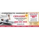 Gift card - 54-Minute Chiropractic Massage Session at Ceragem Healing Center in Buena Park or Irvine, California
